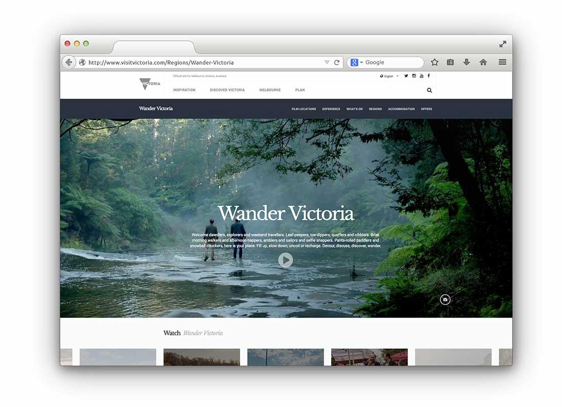 wander vic web page mockup